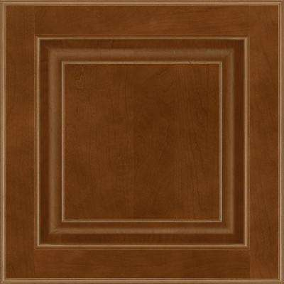 13 in. x 12-7/8 in. Cabinet Door Sample in Olmsted Cherry Spice