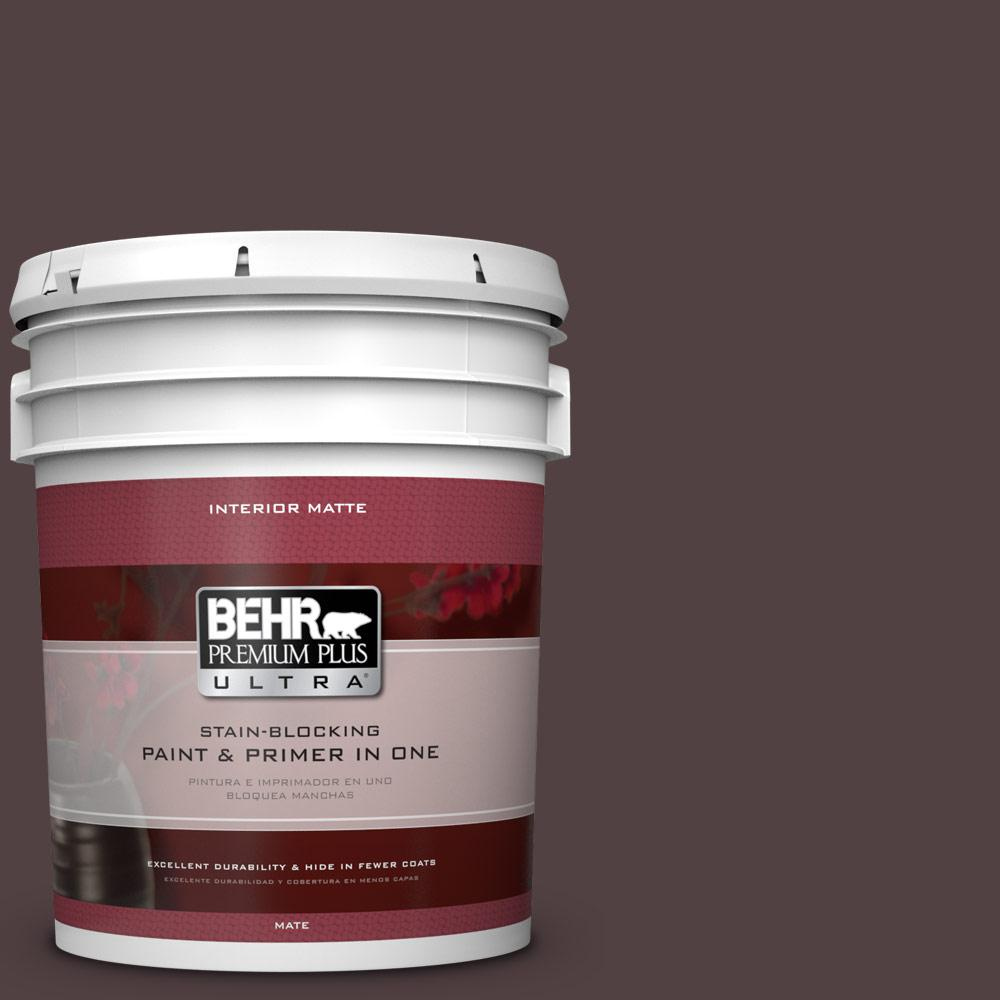 5 gal. #BXC-87 Rich Bordeaux Matte Interior Paint