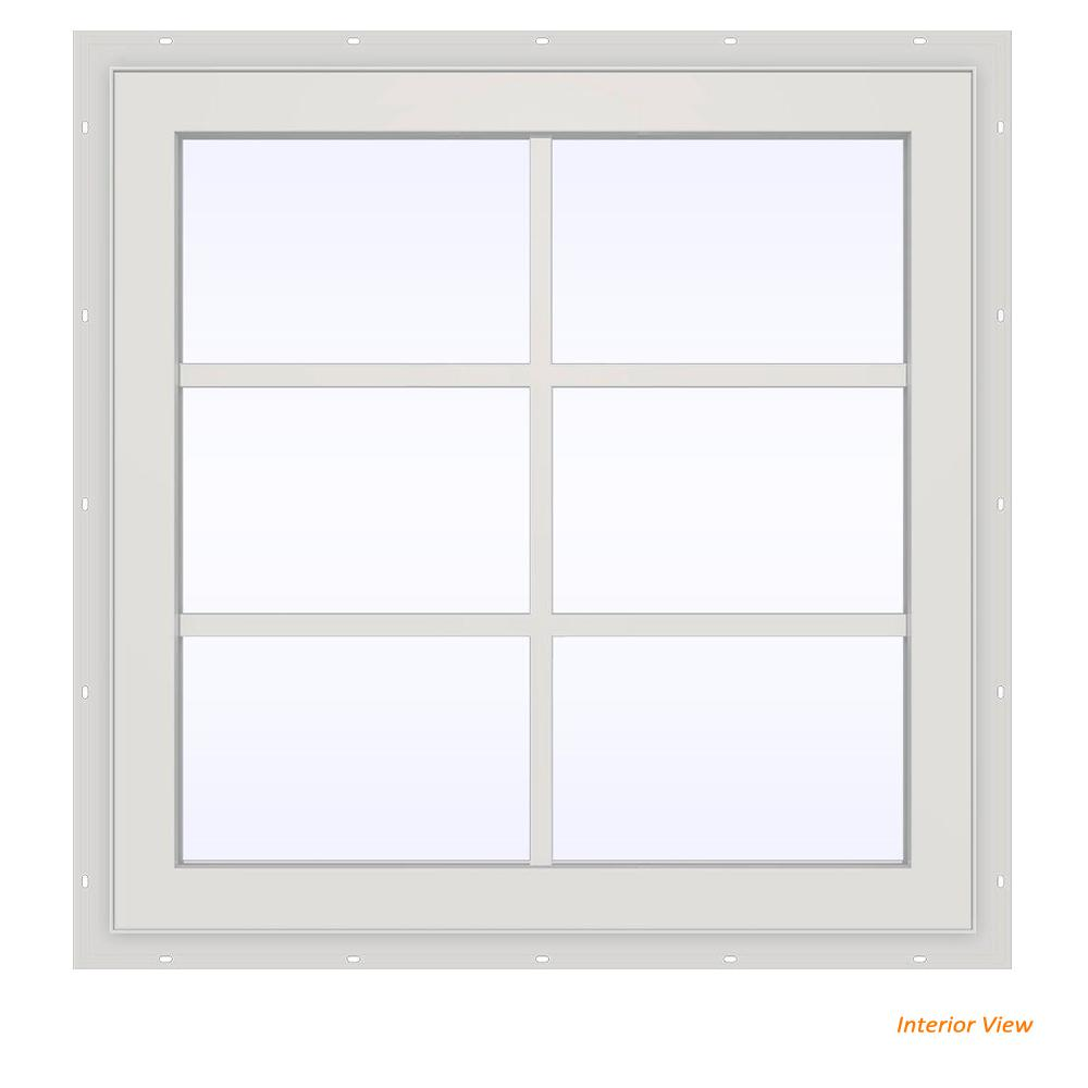 23.5 in. x 29.5 in. V-2500 Series White Vinyl Fixed Picture