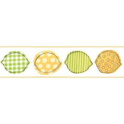 Bistro 750 Printed Lemons Wallpaper Border