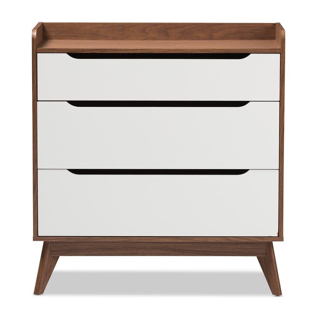 Brighton 3-Drawer White Chest