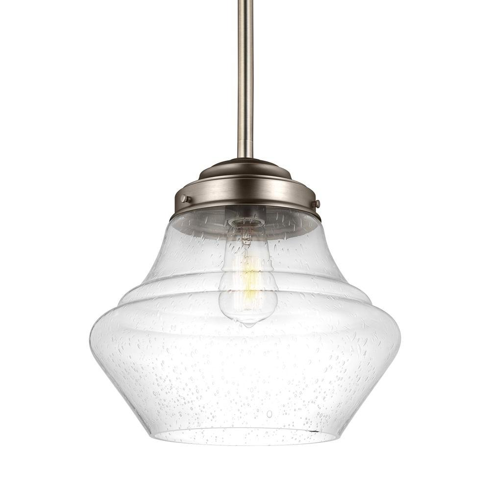 Alcott 1-Light Satin Nickel Indoor Pendant