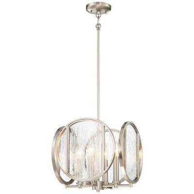 Cluster minka lavery pendant lights lighting the home depot via capri 4 light brushed nickel pendant aloadofball Gallery