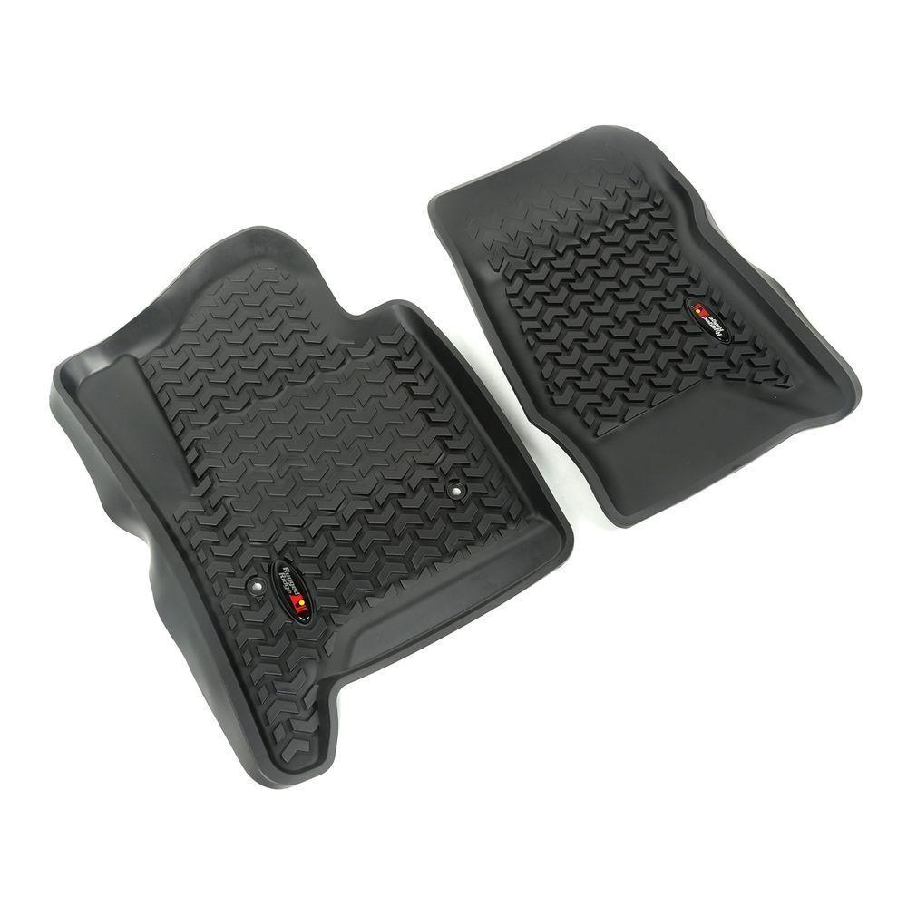 Floor Liners Black 2-Piece 2014-2016 GM Silverado/Sierra Full-Size Pickup &