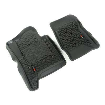 Floor Liners Black 2-Piece 2014-2016 GM Silverado/Sierra Full-Size Pickup & SUV