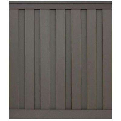 Seclusions 6 ft. x 6 ft. Winchester Grey Wood-Plastic Composite Board-On-Board Privacy Fence Panel Kit