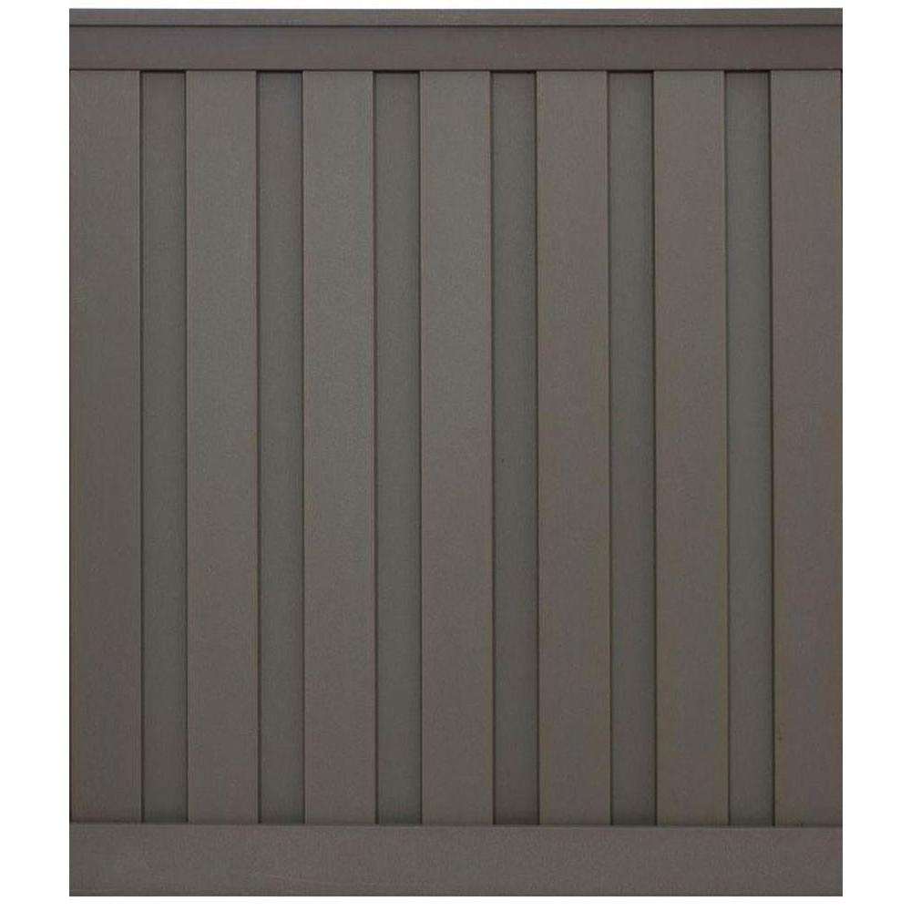 Seclusions 6 ft. x 6 ft. Winchester Grey Wood-Plastic Composite Board-On-Board