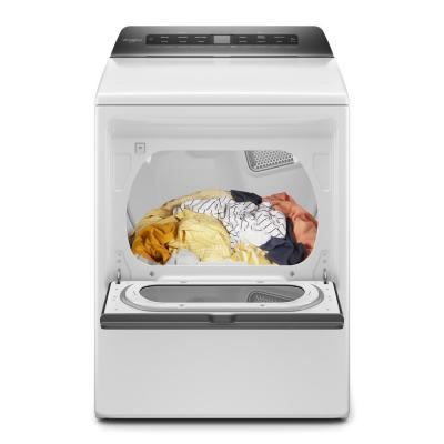 7.4 cu. ft. 240-Volt White Smart Electric Vented Dryer with AccuDry System