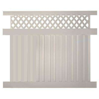 Clearwater 5 ft. H x 6 ft. W Tan Vinyl Privacy Fence Panel Kit