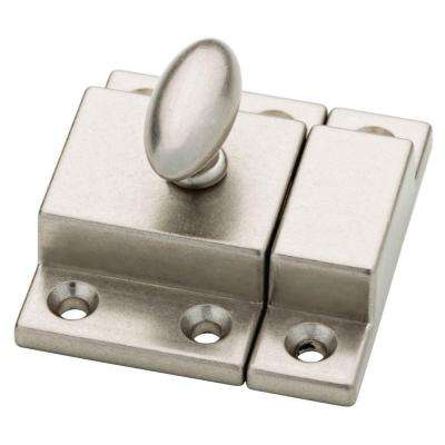 Bedford Nickel Matchbox Door Latch - Cabinet Latches - Cabinet Hardware - The Home Depot