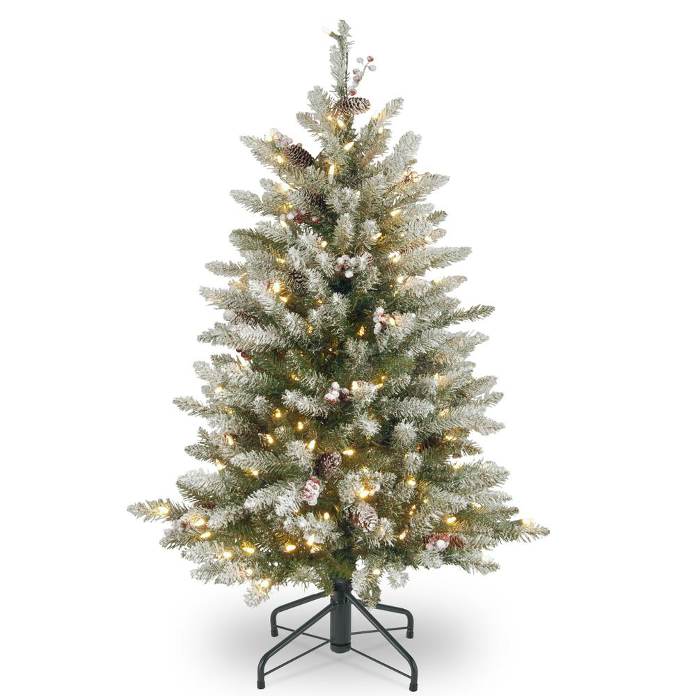4 Ft White Christmas Trees Artificial: GE 7.5 Ft. Just Cut Canadian One Plug Tree