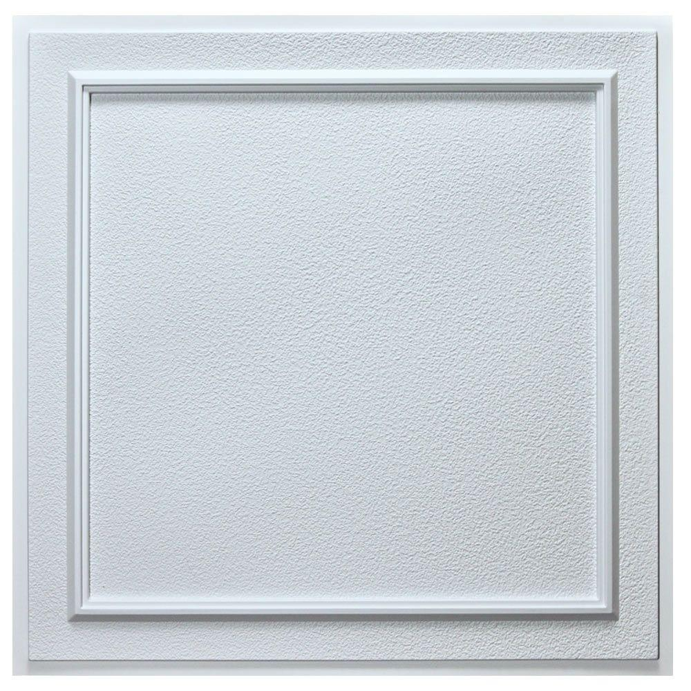 uDecor Belgium 2 ft. x 2 ft. Lay-in or Glue-up Ceiling Tile in White ...