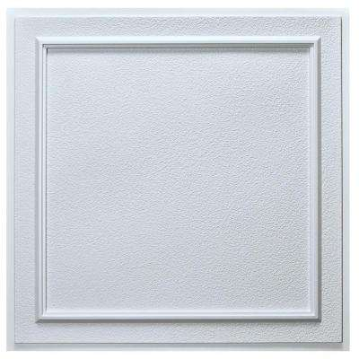 Belgium 2 ft. x 2 ft. Lay-in or Glue-up Ceiling Tile in White (40 sq. ft. / case)