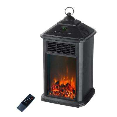 400W Lantern Electric Infrared Space Heater with Flame Effect