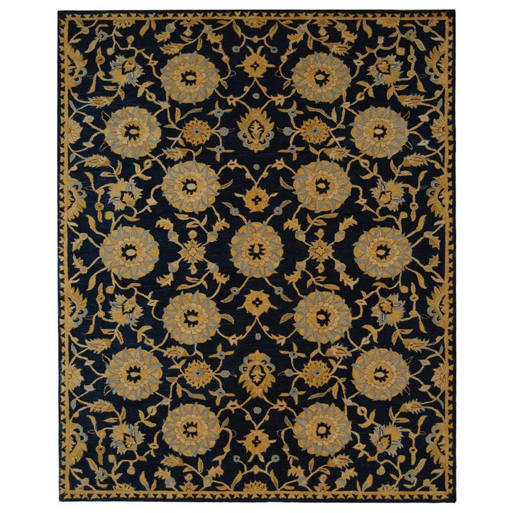 Safavieh Anatolia Navy 9 Ft X 12 Ft Area Rug An537a 9 The Home Depot