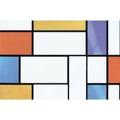 78.74 in. x 26.57 in. Mondrian Window Film (Set of 2)