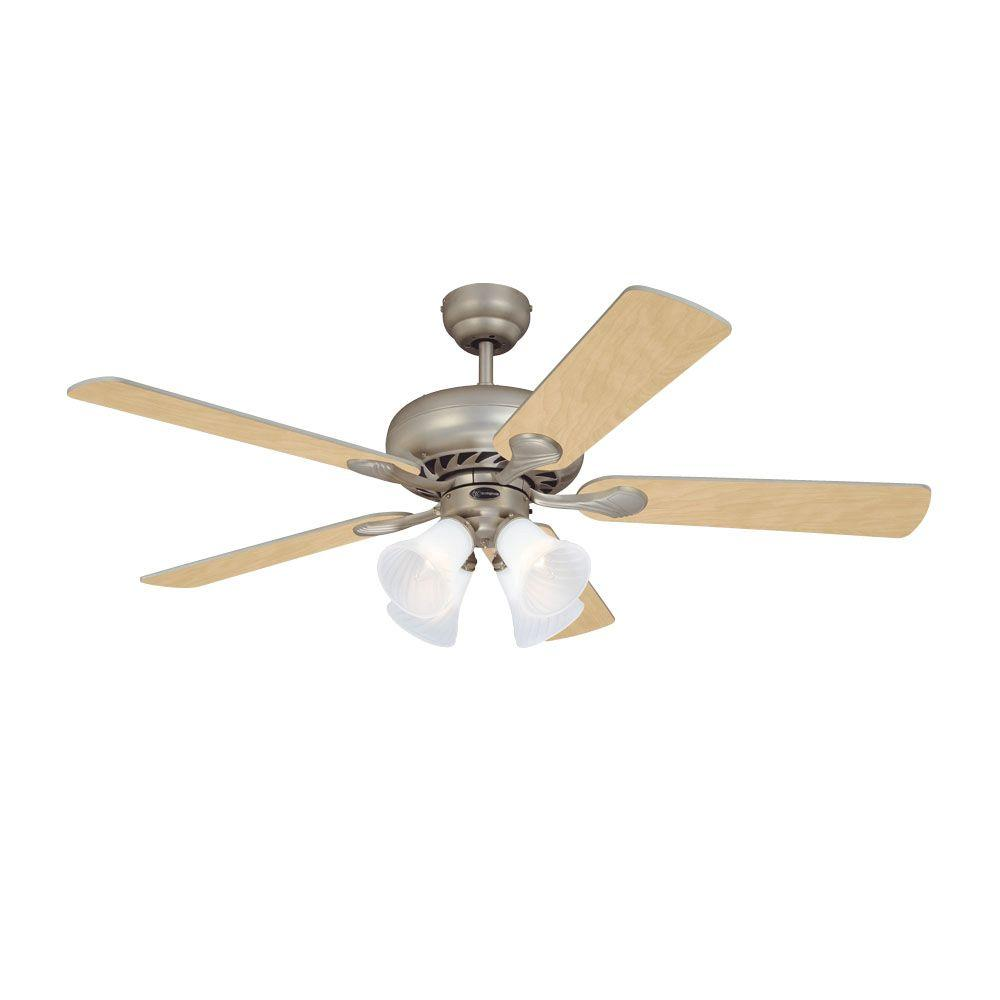 Westinghouse Swirl 52 in. Brushed Pewter Indoor Ceiling Fan