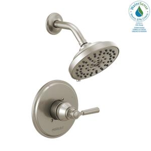 Westchester 1-Handle Wall Mount Shower Faucet Trim Kit in Brushed Nickel (Valve not Included)