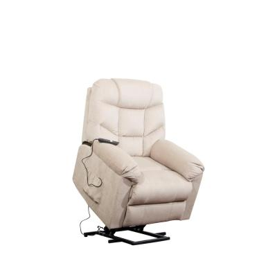 Beige Power Lift Recliner with Remote Control