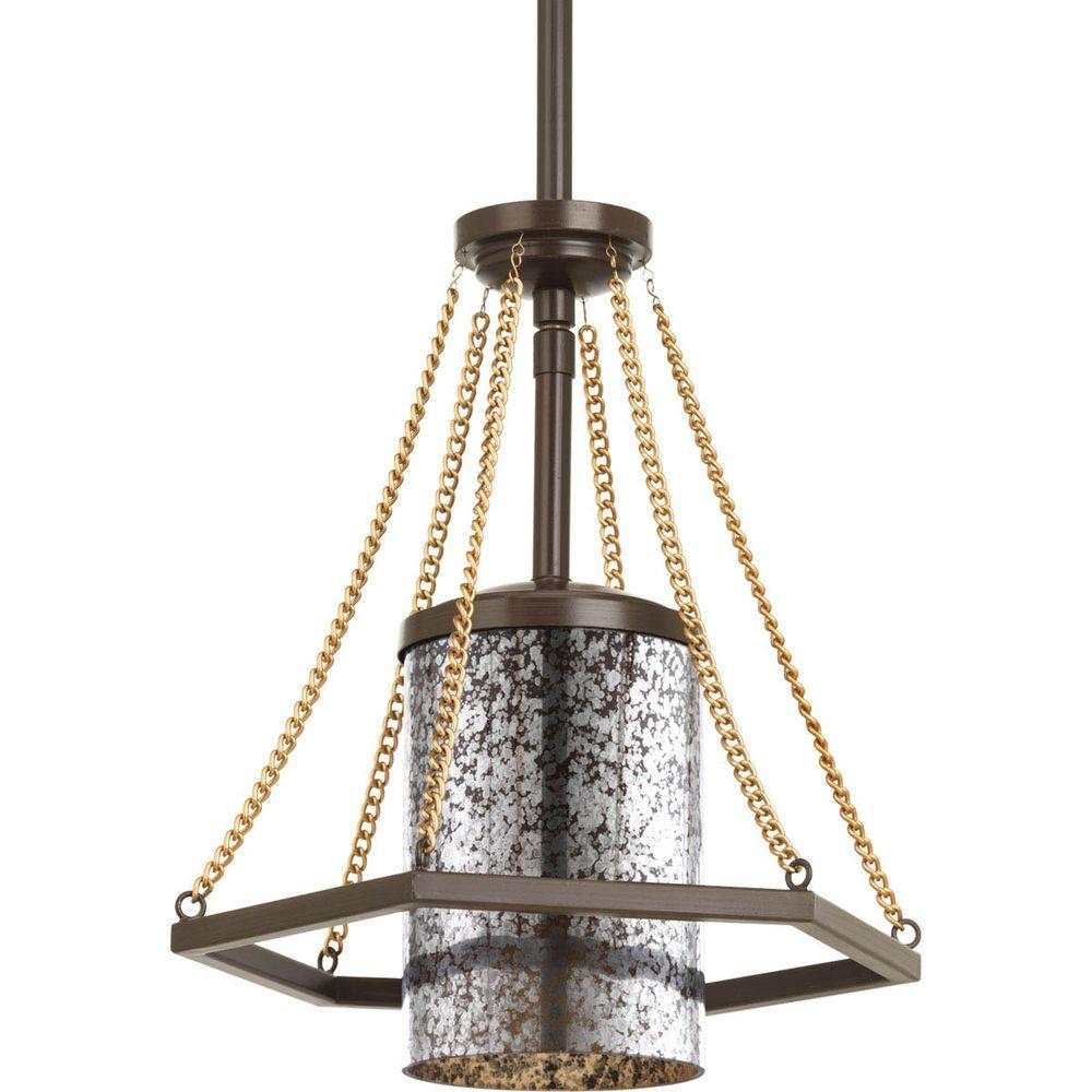 Progress Lighting Indi Collection 1 Light Antique Bronze