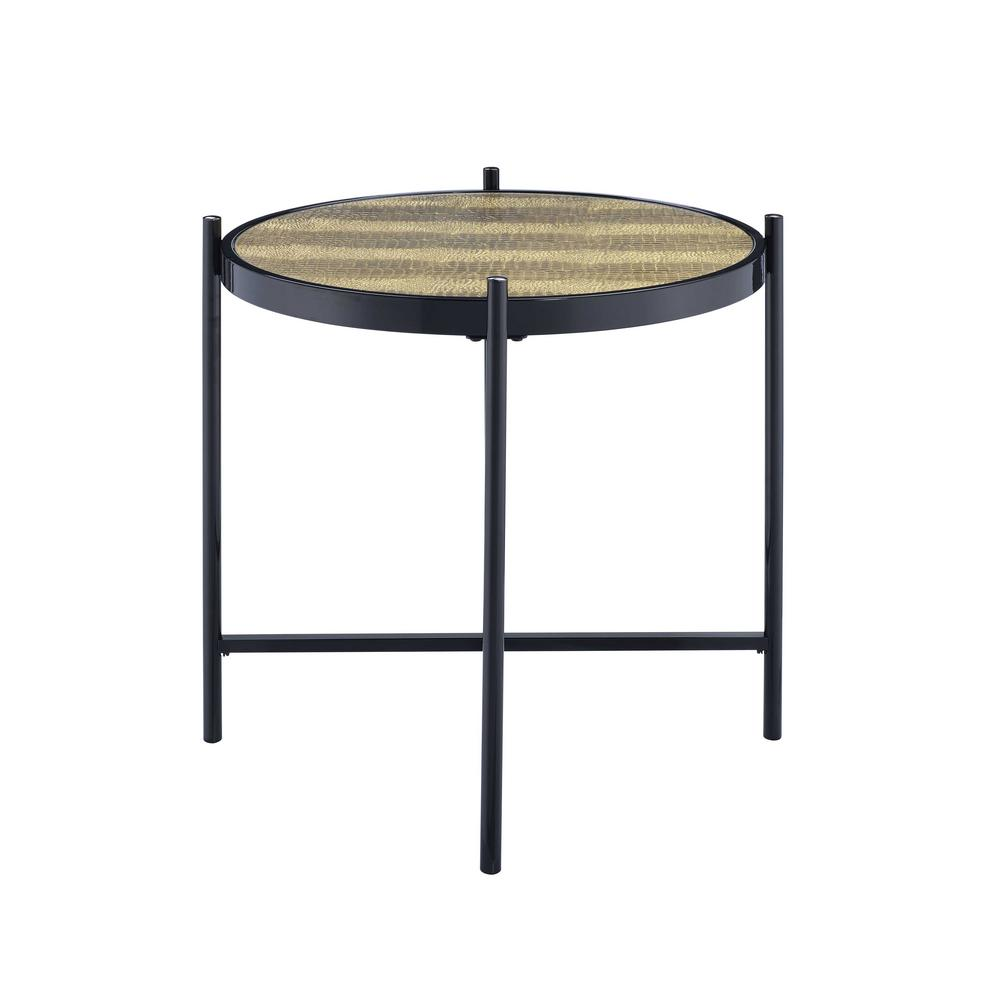 Taggert Black and Gold End Table