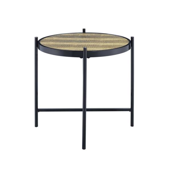 Acme Furniture Taggert Black and Gold End Table 84642