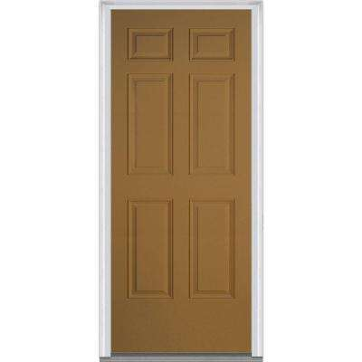 36 in. x 80 in. Right-Hand Inswing 6-Panel Classic Painted  sc 1 st  The Home Depot : paper doors - pezcame.com