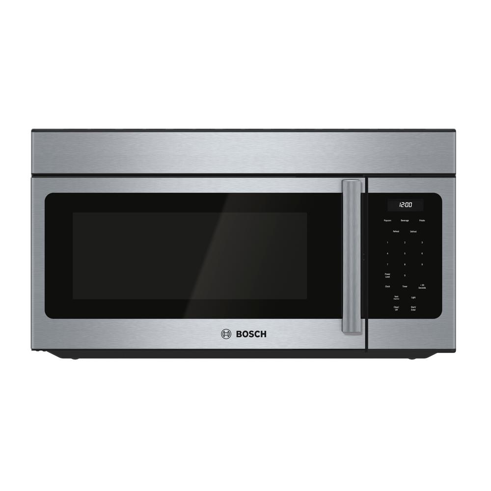 Bosch 300 Series 30 in. 1.6 cu. ft. Over the Range Microwave in Stainless Steel