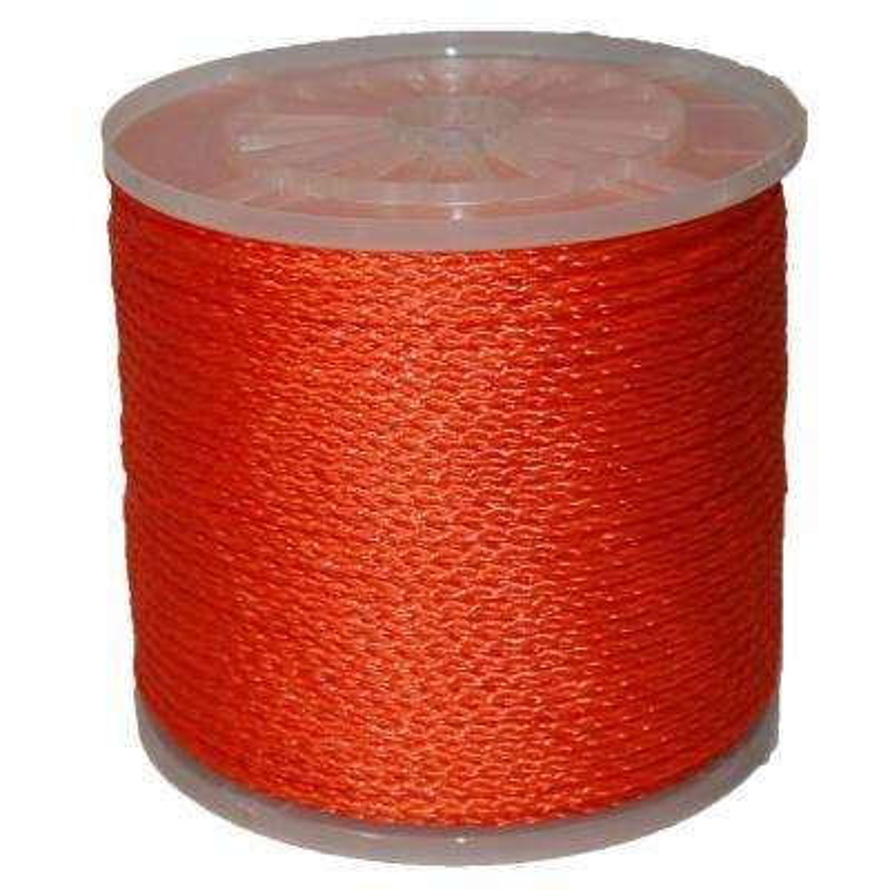 #8 - 1/4 in. X 1000 ft. Orange Hollow Braid Polypro
