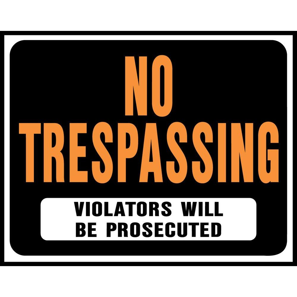 photograph relating to Printable No Trespassing Sign named HY-KO 15 within just. x 19 within just. Plastic No Tresping Indication-SP-104