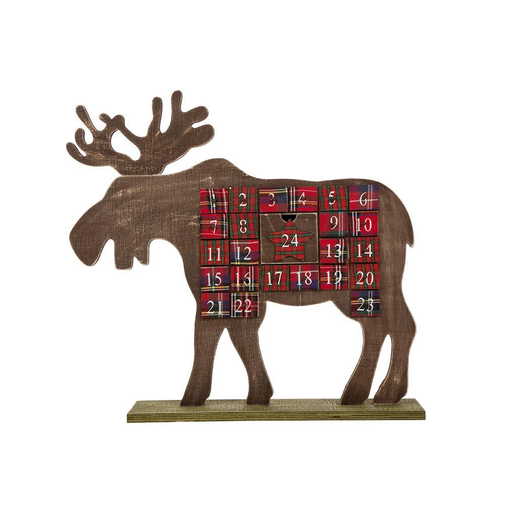 L Wooden Reindeer Countdown