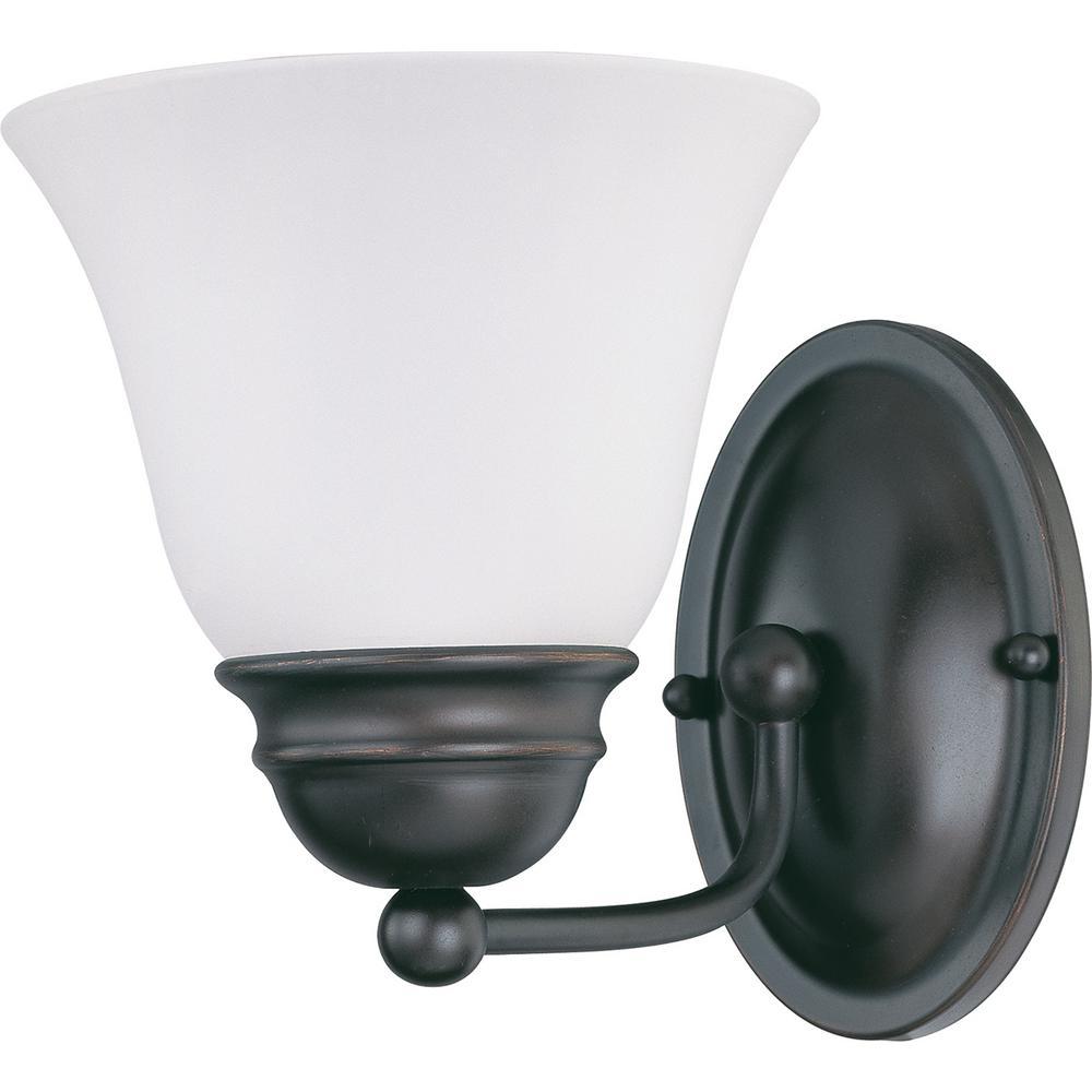 10.5-Watt Mahogany Bronze Integrated LED Bath Light
