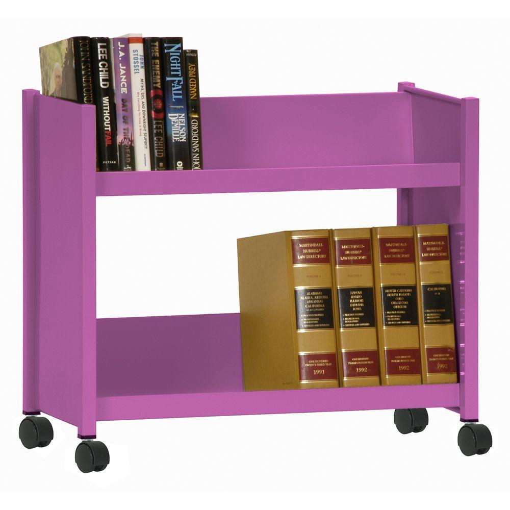 Sandusky Sloped 2-Shelf Welded Booktruck in Grape Juice