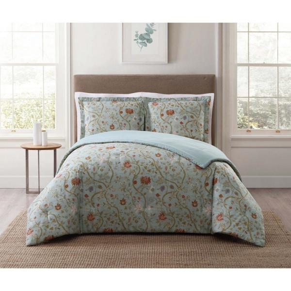 Style 212 Bedford Blue Multi Full and Queen XL Comforter Set