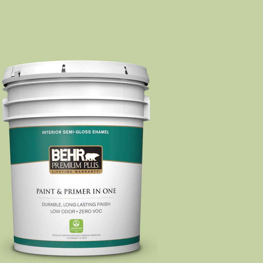 BEHR Premium Plus 5-gal. #P370-4 Cricket Field Semi-Gloss Enamel Interior Paint