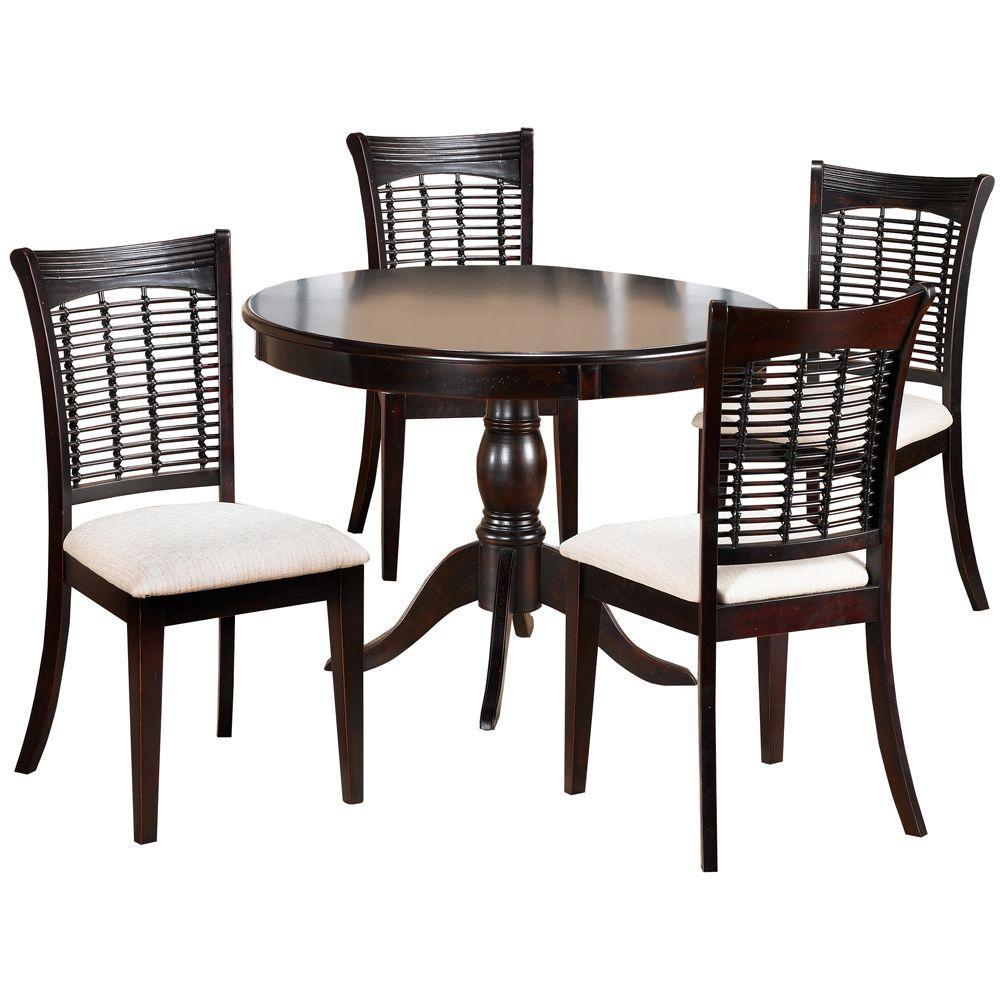 Hillsdale Furniture Bayberry 5-Piece Dark Cherry Round Dining Set