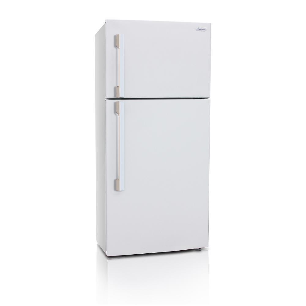 Impecca 18 cu. ft. Top Freezer Refrigerator in White, Ene...