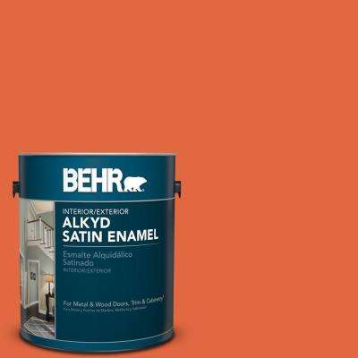 1 gal. #P190-6 Emergency Zone Satin Enamel Alkyd Interior/Exterior Paint