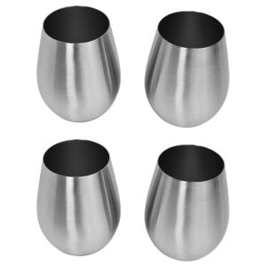 Southern Homewares Stemless Stainless Wine Glass (4-Pack) by Southern Homewares