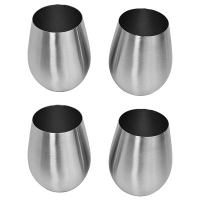 Stemless Stainless Wine Glass (4-Pack)