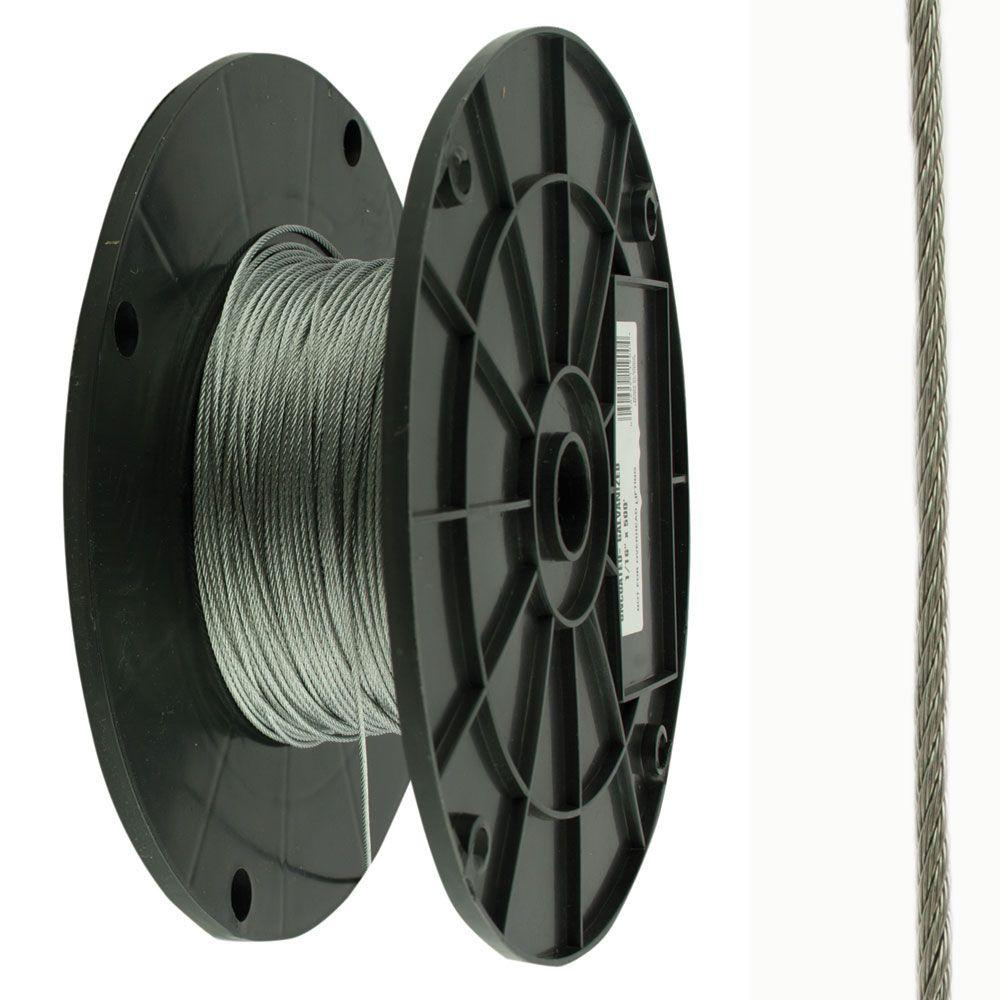 Everbilt Uncoated Wire Rope 3/32 in. x 200 ft. Stainless Steel ...