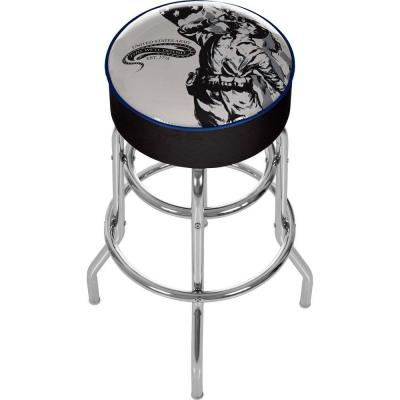 U.S. Army The Horn Calls 31 in. Chrome Padded Swivel Bar Stool