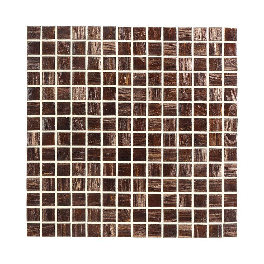 Sasparilla 12 in. x 12 in. x 4 mm Glass Mosaic Wall Tile