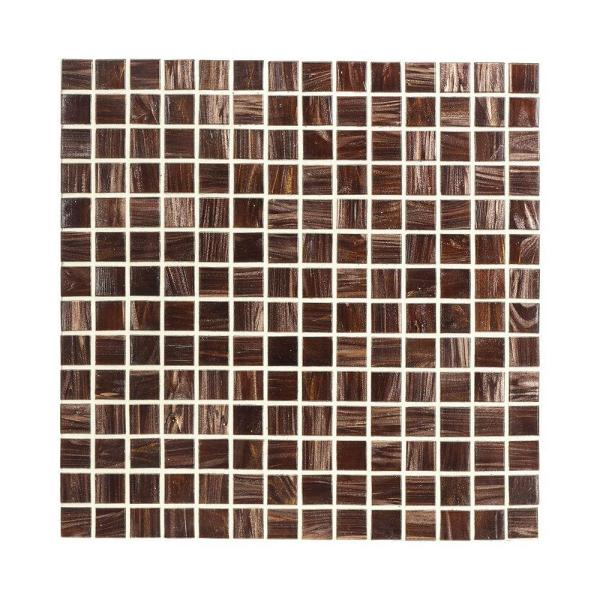 Sasparilla 12 in. x 12 in. x 4 mm Glass Mosaic Wall Tile