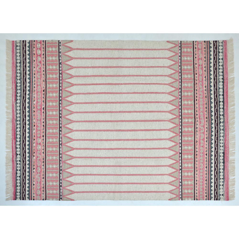 Takoma Modern Bohemian Pink 8 ft. x 10 ft.  Area Rug