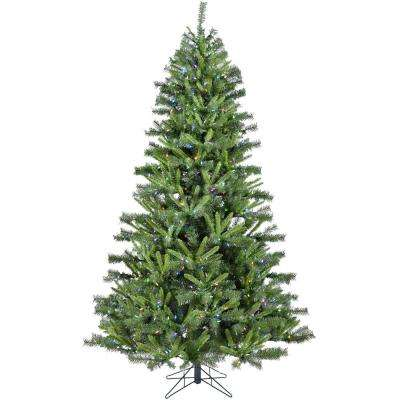 7.5 ft. Norway Pine Artificial Christmas Tree with Multi-Color LED String Lighting and Holiday Soundtrack