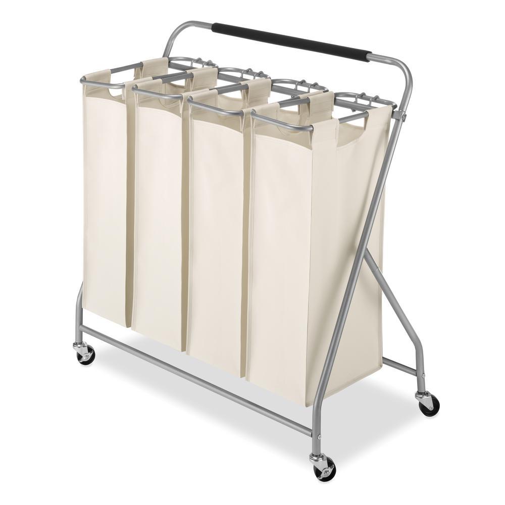 Easy Lift Quad Laundry Sorter