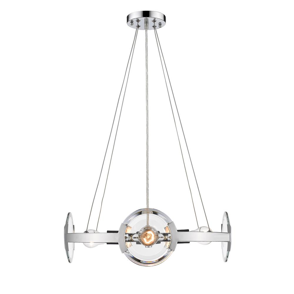 Golden Lighting Amari 4 Light Chrome Chandelier