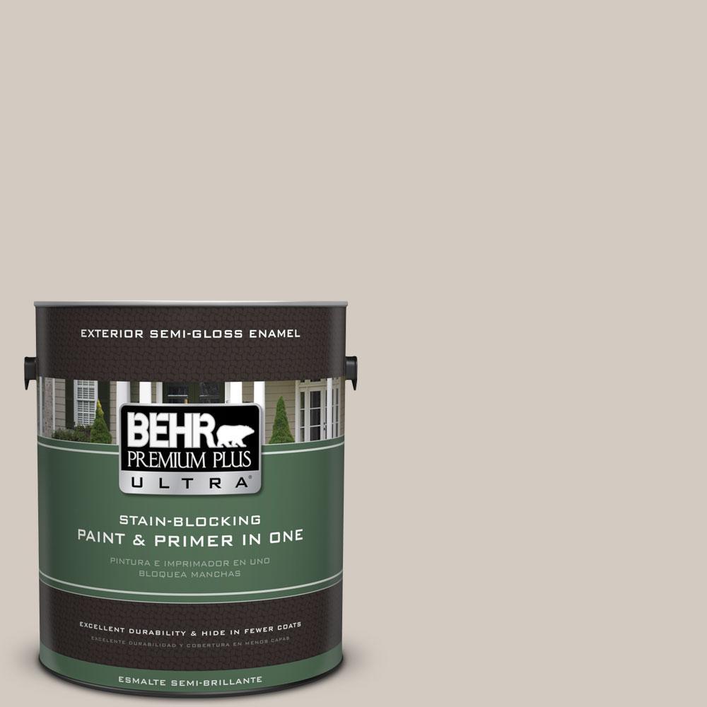 BEHR Premium Plus Ultra 1-gal. #N320-2 Toasty Gray Semi-Gloss Enamel Exterior Paint