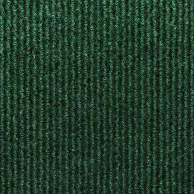 Sisteron Leaf Green Wide Wale Texture 18 in. x 18 in. Indoor/Outdoor Carpet Tile (10 Tiles/Case)